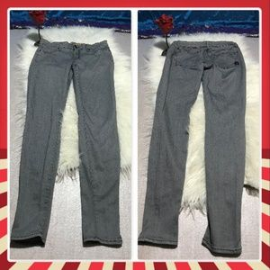 Rich & Skinny gray skinny stretch jeans Made in US